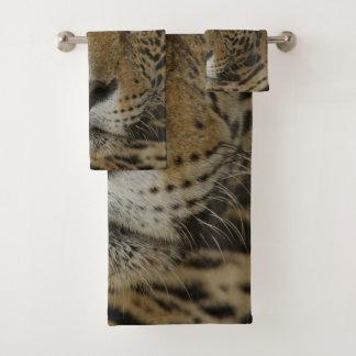 Conjunto De Toalhas Retrato felino de Jaguar