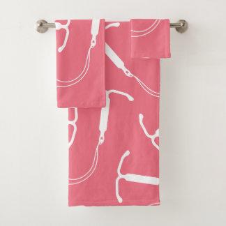 Conjunto De Toalhas Rosa do teste padrão de IUD