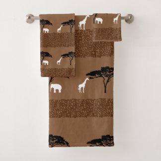 Conjunto De Toalhas Safari africano