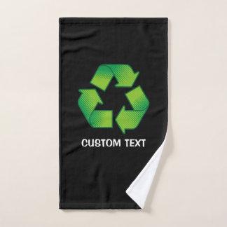Conjunto De Toalhas Símbolo do reciclagem