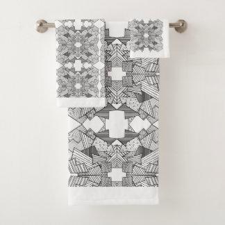 Conjunto De Toalhas Sobreposição geométrica abstrata