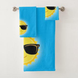Conjunto De Toalhas Sun bonito que veste óculos de sol