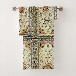 Conjunto De Toalhas Tapete oriental em cores claras