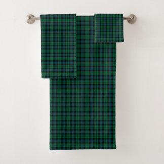 Conjunto De Toalhas Tartan escocês de MacKay do clã da xadrez verde e