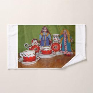 Conjunto De Toalhas Tempo do chá da boneca do russo