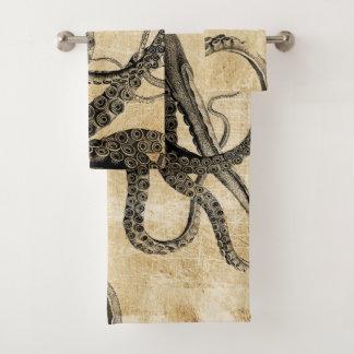 Conjunto De Toalhas Tentáculos do polvo do vintage