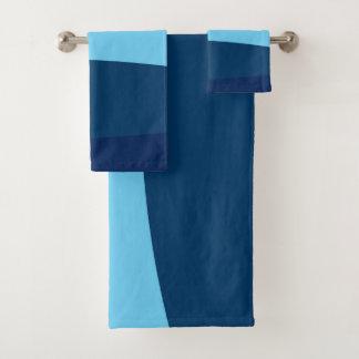 Conjunto De Toalhas Teste padrão abstrato - azul