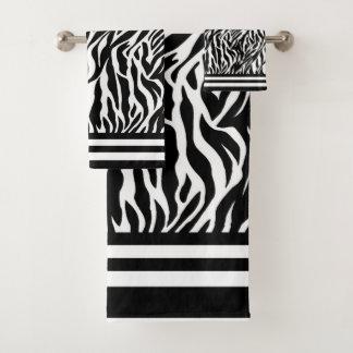 Conjunto De Toalhas Teste padrão da zebra