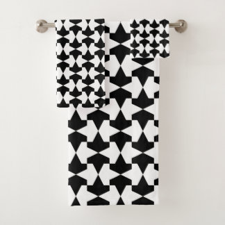 Conjunto De Toalhas Teste padrão preto e branco clássico de Mamluks