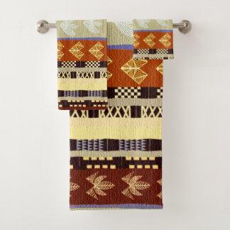 Conjunto De Toalhas Teste padrão tribal africano