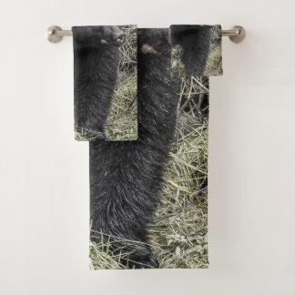 Conjunto De Toalhas Urso preto