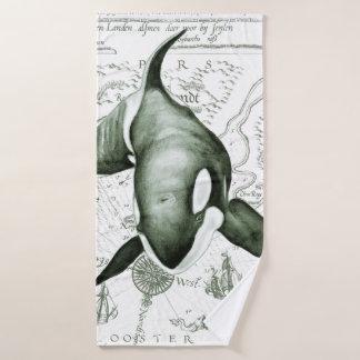 Conjunto De Toalhas Verde antigo da orca