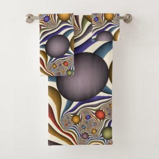 Conjunto De Toalhas Voando acima, arte colorida, moderna, abstrata do