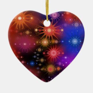 Conjuntos de estrela ornamento de cerâmica coração