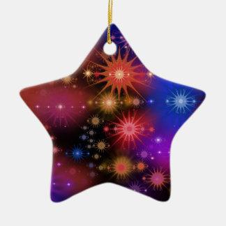 Conjuntos de estrela ornamento de cerâmica estrela