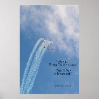 Conluio Aerobatic inspirador do turbojato de Pôster