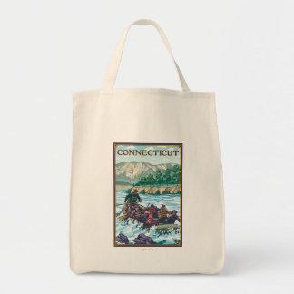 ConnecticutRiver que transporta a cena Sacola Tote De Mercado