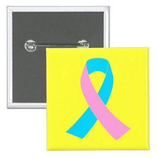 Consciência da fita cor-de-rosa e azul boton
