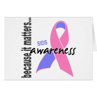 Consciência de SIDS Cartão Comemorativo