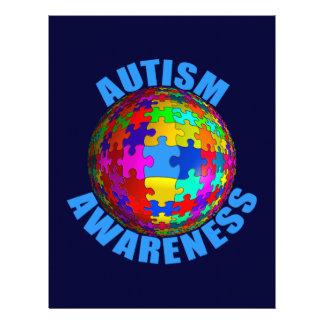 Consciência do autismo do mundo papel de carta
