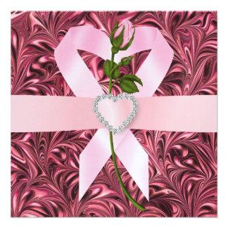 Consciência do cancer - fita cor-de-rosa convites