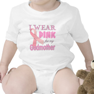 Consciência do cancro da mama para a madrinha macacãozinhos para bebê