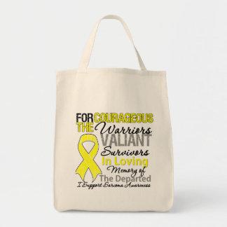 Consciência do Sarcoma do apoio do tributo Bolsas De Lona