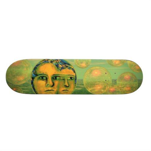 Consciência - ouro e despertar verde skate