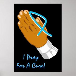 Consciência que do cancro da próstata eu Pray para Pôster