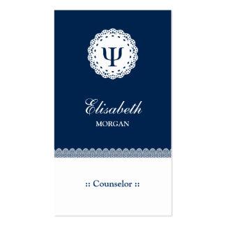Conselheiro profissional - símbolo da libra por cartão de visita