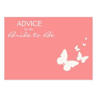 Conselho cor-de-rosa da borboleta para que a noiva