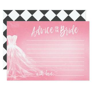 Conselho cor-de-rosa do vestido de casamento | convite 8.89 x 12.7cm