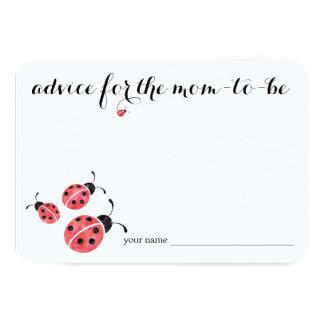 Conselho do joaninha da aguarela para o cartão do convite 8.89 x 12.7cm