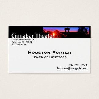 Conselho do teatro do cinábrio de administração cartão de visitas