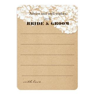 Conselho floral do casamento dos Hydrangeas Convite 12.7 X 17.78cm