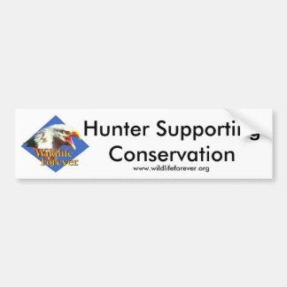 Conservação de apoio do caçador adesivos