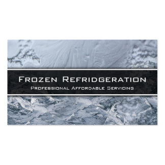 Conservação refrigerando do profissional - cartão cartão de visita
