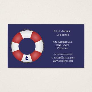 Conservante de vida náutico cartão de visitas