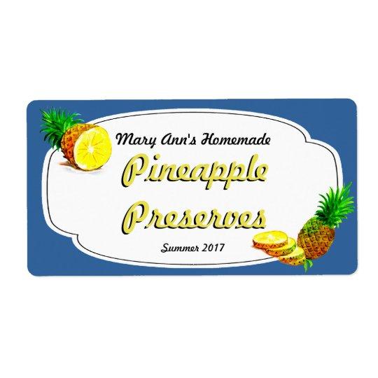 Conservas do abacaxi que enlatam etiquetas