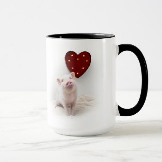 Conserve a caneca do coração de porco