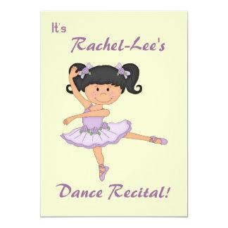 Considerando-Bailarina da dança Convite Personalizado