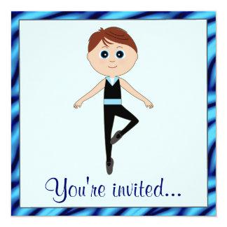 Considerando da dança com dançarino do menino convites personalizados