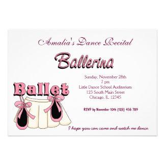 Considerando da dança convites personalizado