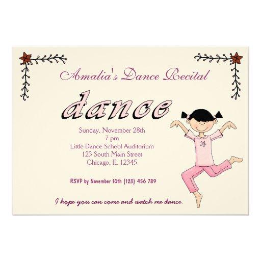 Considerando da dança convites