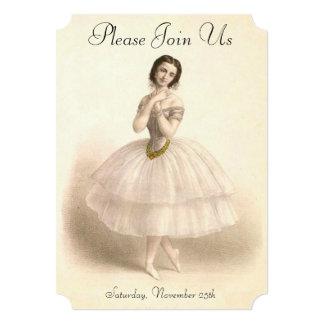 Considerando da dança do balé da dança da convite 12.7 x 17.78cm