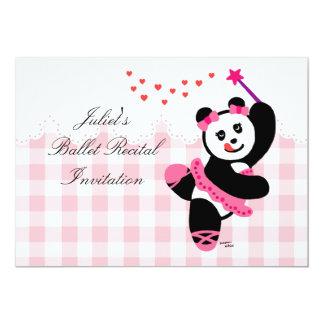 Considerando do dançarino de balé da panda de convites personalizados
