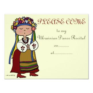 Considerando ucraniano da dança convites personalizados
