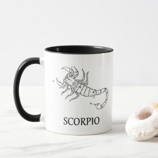 Constelação da astrologia da Escorpião e caneca