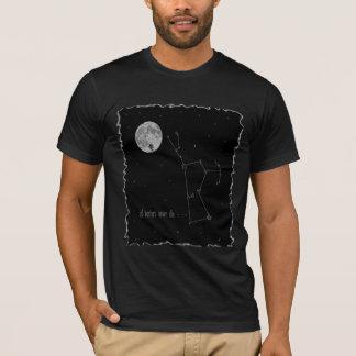 Constelação de Orion com Lua cheia Camiseta