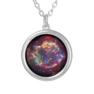 Constelação do Cassiopeia Colar Com Pendente Redondo